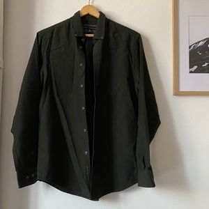 Report Collection Olive Green Button Down